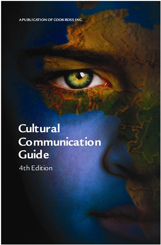 Cover of the 4th edition of Cook Ross' Cultural Communication Guide featuring an image of a boy with the map projected on his face